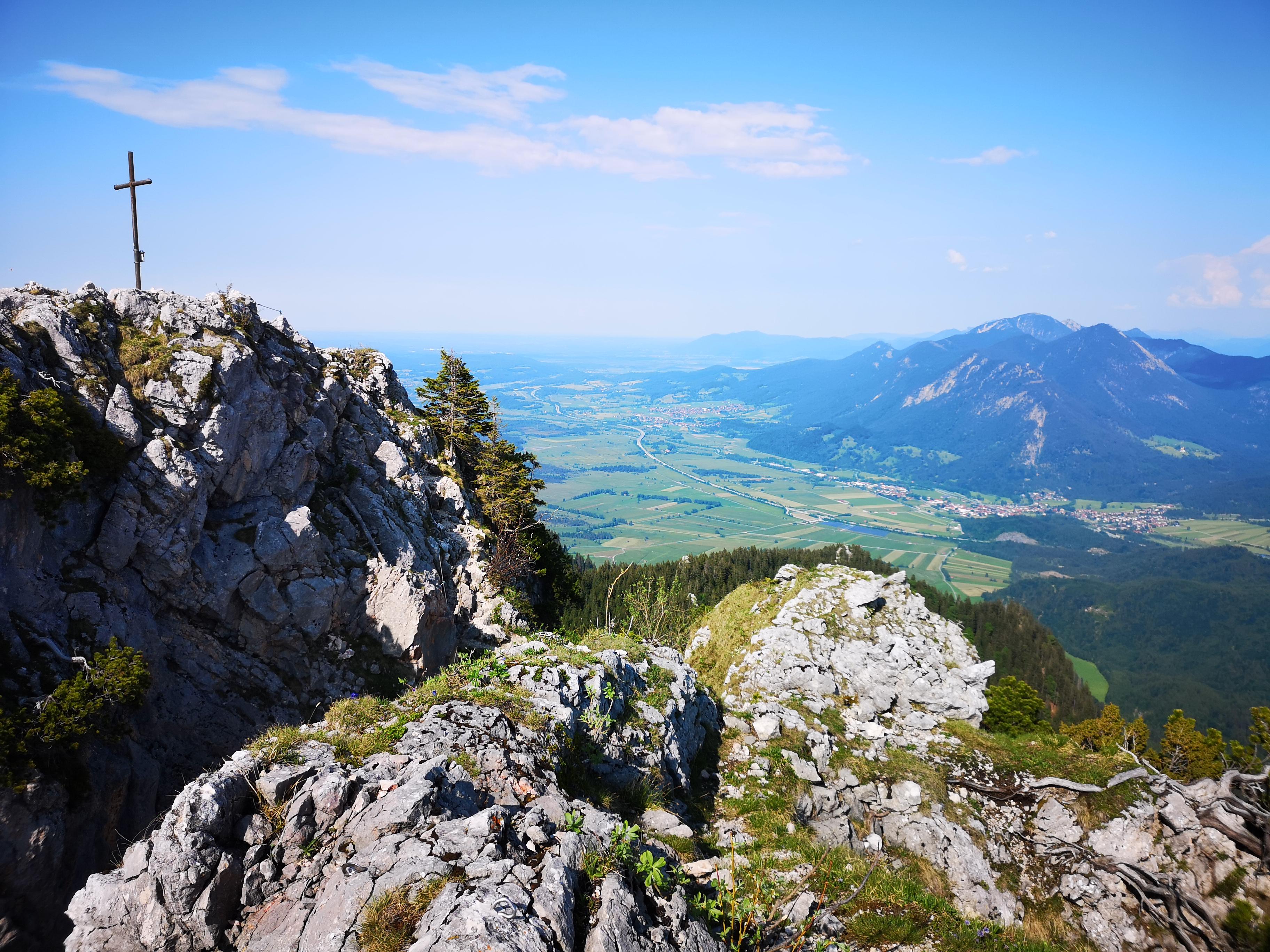 Bergtour - Ettaler Manndl - aussicht A95